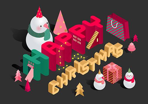 크리스마스 타이포