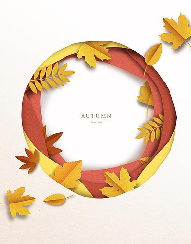 낙엽 프레임 페이퍼아트