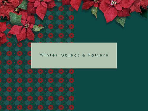 겨울 오브젝트와 패턴