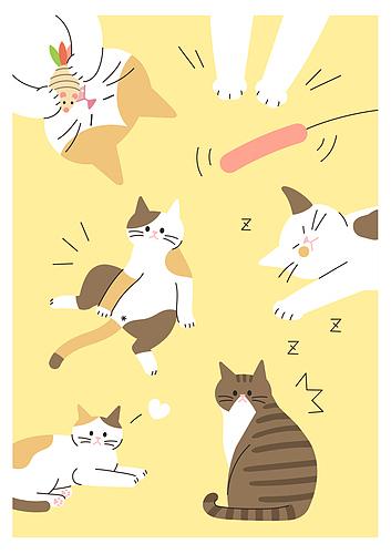 귀여운 반려동물 패턴