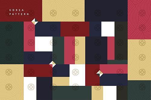 조각보 패턴 백그라운드