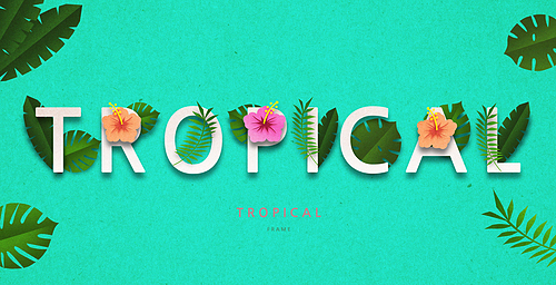 Tropical Typography