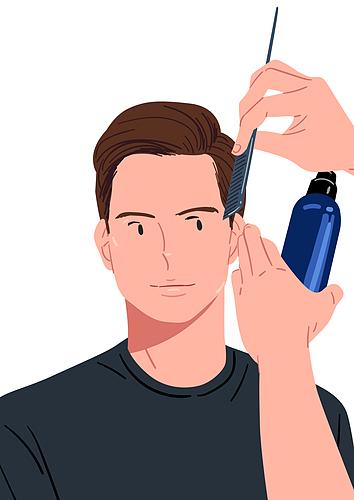 청년 (성인), 뷰티, 건강한생활 (주제), 남성 (성별), 메트로섹슈얼 (역할), 머리카락 (주요신체부분), 헤어스타일 (Hair Type)