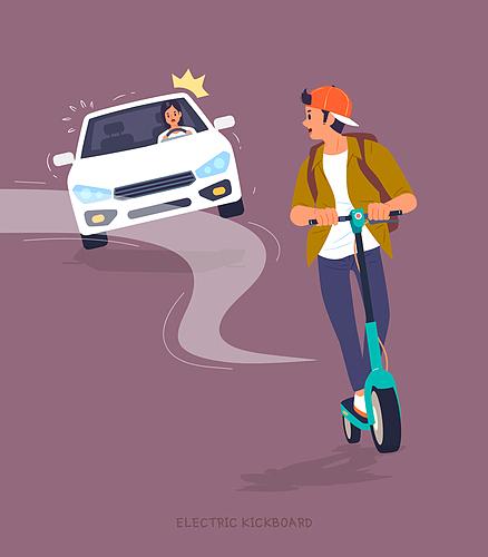 전동킥보드, 안전, 위험 (컨셉), 퀵보드 (특이한운송수단), 교통 (주제), 캠페인, 자동차