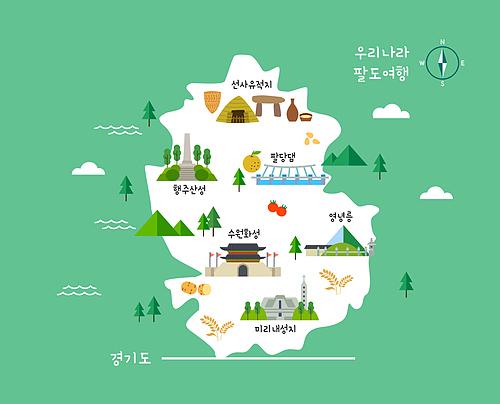 전국팔도 랜드마크 지도
