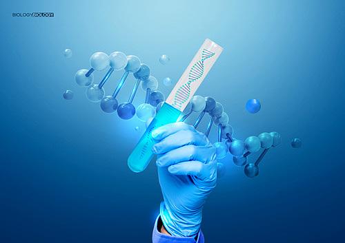 생물학 (과학), 연구 (주제), DNA, 파랑 (색), 눈금실린더 (실험유리기구)