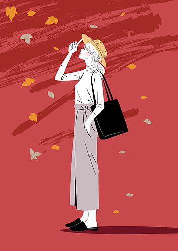 라이프스타일, 가을, 여성 (성별), 패션, 20대 (청년)