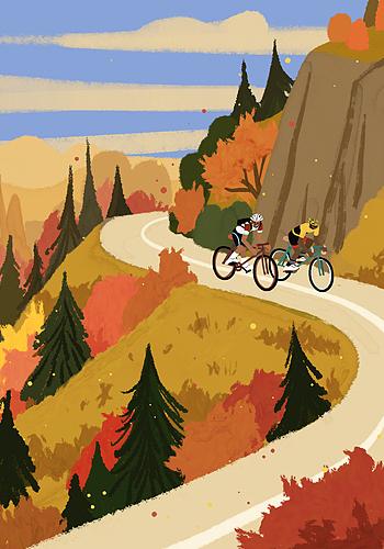 가을, 자전거 즐기기