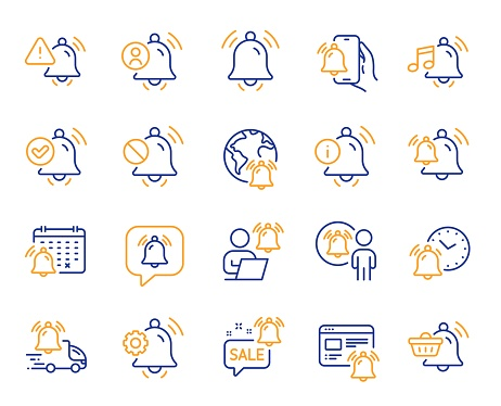 Yellow point line icons