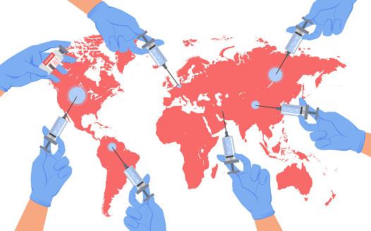 전 세계 코로나 백신 접종