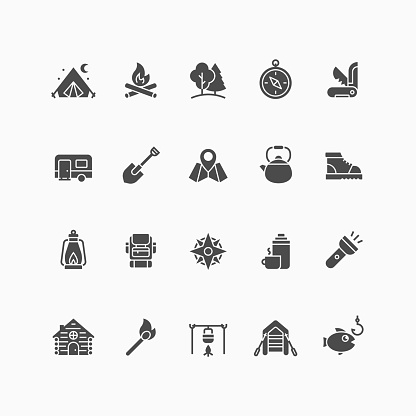 Black solid icons