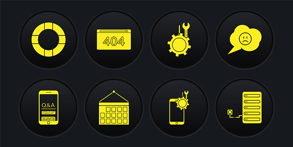 Yellow solid icons