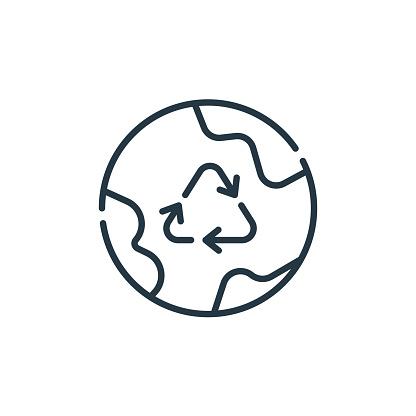 환경 라인 아이콘