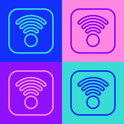 Pop art line icon