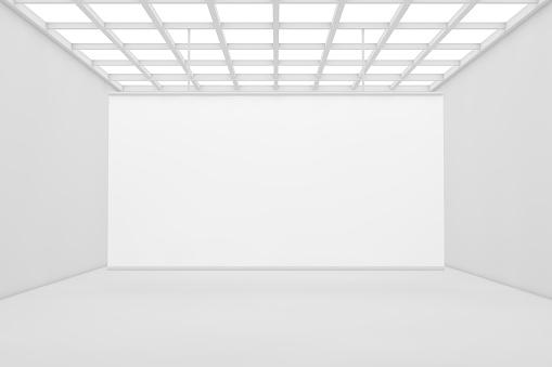 3D Empty showroom