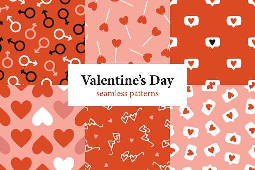 Valentine's Day patterns collection
