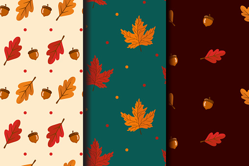 낙엽 패턴