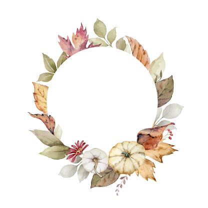 가을 식물 프레임