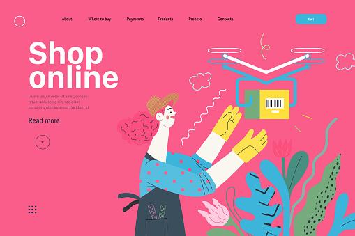 Discounts, sale, promotion, web template