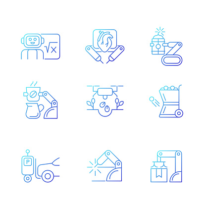 Robots Gradation icon