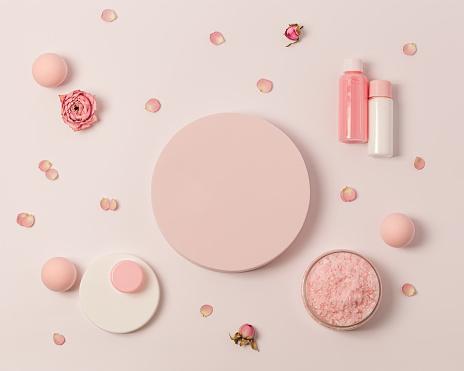 Spring Cosmetics Background