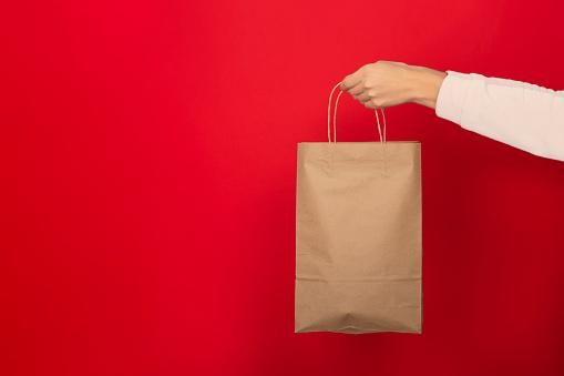 쇼핑백과 손