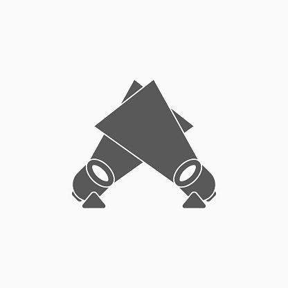 spotlight icon, light vector