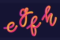 Gradient lettering