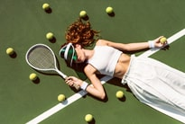 On tennis court