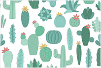 Seamless pattern of cactus