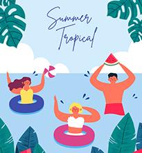 Summer Tropical illustration