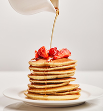 Breakfast with pancakes