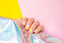 Manicure concept with copyspace
