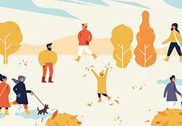 Vector autumn fair