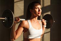 Strong sportswoman