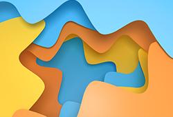 해외사진_3d rendering curve paper background