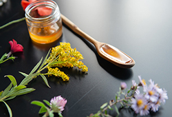해외사진_Aerial wildflower and honey portrait