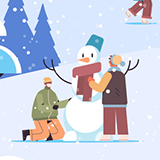 Happy winter illustration
