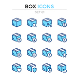 Set of 12 line icon