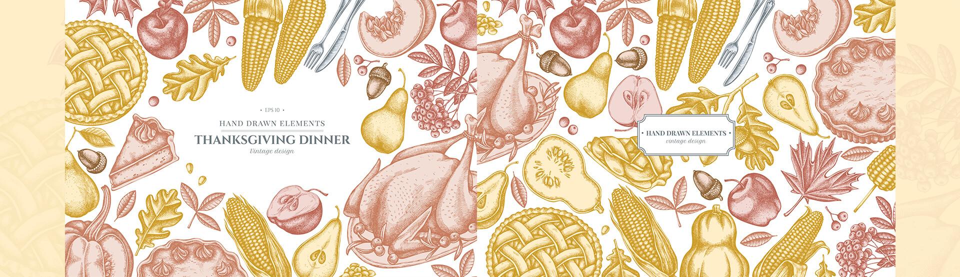 가을음식 펜화