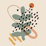 Abstract art minimalist poster