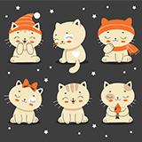 귀여운 고양이 캐릭터