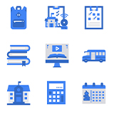 School Blue Icons