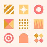 simple color icon design