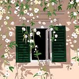 창 밖에 봄