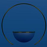 3d 다크 블루 모형